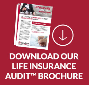 CorpStrat life insurance audit brochure