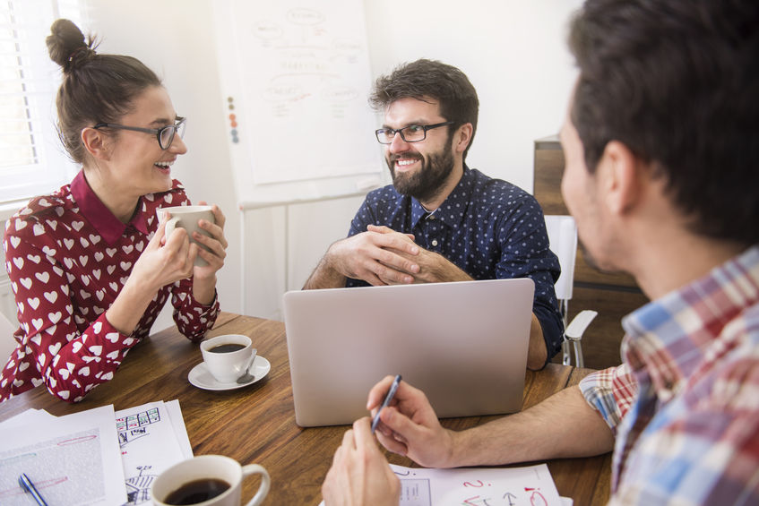 employees coming up with ways to improve office culture