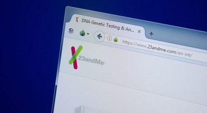DTwo strands of DNA exposed by the Human Genome Project